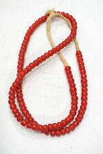 Beads African Medium Red White Heart Beads 7mm