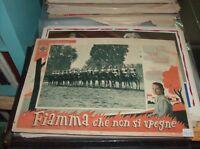 FIAMMA CHE NON SI SPEGNE fotobusta piccola originale 1949 GINO CERVI carabinieri