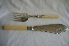 Antique / Vintage Pair Of RPM&S Silver Plated Fish Servers.
