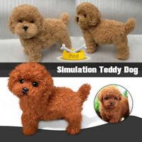 Realistic Simulation Teddy Dog Plush Toy Lifelike Fluffy Puppy Companion Doll