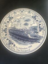 Royal Goedwaagen Blue Delft Holland America Shipping Line Inaugural VOLENDAM