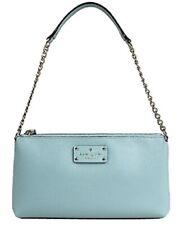 Kate Spade Women's Leather Purse Blue Shoulder Chain Strap Wellesley Byrd $228
