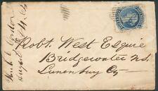 Canada-NewSchottland Letter Mi.-Nr.7 to Bridgewater 1864 mit Inhalt, RARITÄT