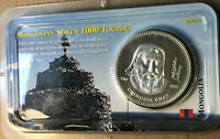2002 Mongolia 1000 Togrog Silver Coin Sealed