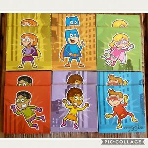 12 x Superhero Notebooks Notepads Children's Kids Party Favours Student Rewards