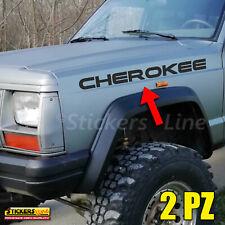 2 Adesivi Jeep CHEROKEE scritte laterali cofano parafango 4X4 off road