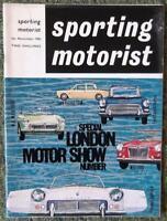 SPORTING MOTORIST MAGAZINE NOVEMBER 1962 VOLXII NO80 - LOTUS ELAN/ MORRIS 1100