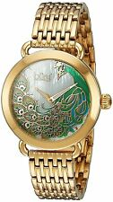 Burgi Womens Quartz Stainless Steel Casual Watch, Color:Gold-Toned Model: