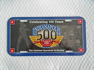 New 100TH Anniversary  Indianapolis 500 Event Collector License Plate Free Ship