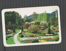 "Playing Swap Cards 1 VINT   BEAUTIFUL ""THE BUTCHART GARDENS""   K97"