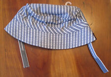New NWT Gymboree Blue Chambray Striped Tiger Bucket Hat 12-18 months