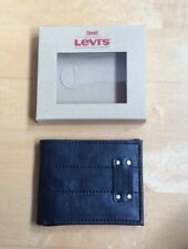 Levi's Mens Black Wallet New In A Gift Box