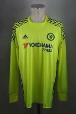 Chelsea London Trikot Gr. XL #1 Torwart Jersey Adidas 2016-17 Goalkeeper gelb