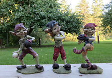 3 PIXIE BASEBALL PLAYERS ANTHONY FISHER PIXIES ELVES collectibles resin set new