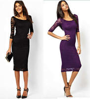 Women Lady Sexy Lace Mini Dress Night Club Evening Party Cocktail Pencil Skirt