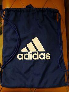 Adidas Gym Sack Lightweight Drawstring Bag - Blue 47cm x 36cm