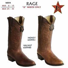 Los Altos, Western Men's Boots, Rage, H-65 Round Toe, Cowboy Boots