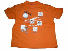 s. Oliver tolles T-Shirt Gr. 74 orange mit Tier Motiven !!