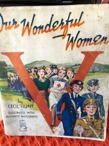 World War 2 - Our Wonderful Women, A Tuck Book.