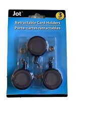 Id Badge Holder Retractable Key Card Holder 3 Pack Black