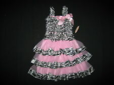 "NEW ""ZEBRA SILK PINK"" Rumba Dress Girls 2T/3T Spring Summer Clothes Beach Kids"