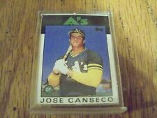 1990 Topps Double Header-Test Issue- jose canseco 2 pictures in holder