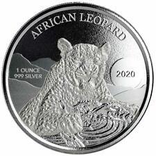 Ghana - 5 Cedis 2020 - African Leopard - Premium-Anlagemünze - 1 Oz Silber ST
