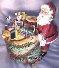 Fitz and Floyd Old Fashioned Christmas Cookie Jar