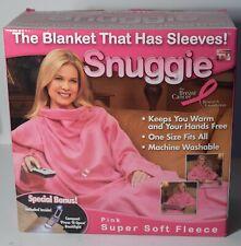 Snuggie Pink Original TV Blanket + Sleeves fleece Adult 1-Size