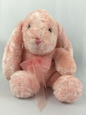 "DanDee Stuffed Easter Bunny Rabbit Pink Iridescent 14"" Stuffed Animal Toy"