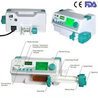 FDA Portable HD LCD Medical Injection Syringe Pump with Alarm KVO Drug Library