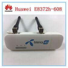 Unlocked Huawei E8372h-608 4G LTE USB Modem Dongle Car Wifi 2 PCS TS9 Antenna