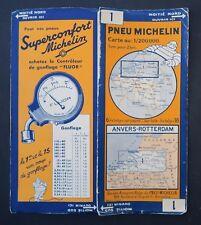 Carte MICHELIN old map n°1 ANVERS ROTTERDAM BELGIQUE 1934 Bibendum pneu tyre