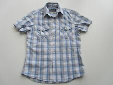 Mens SOULCAL Short Sleeve Blue Checked Shirt size S