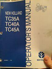 New Holland Tc35da Tc40da Tc35a Tc40a Tc45a Tc45da Operators Manual