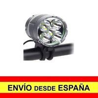 Linterna Frontal 5 LED Faro Cabeza Batería Diadema + Luz Trasera Bicicleta a2887