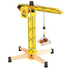 Baufahrzeug  Pintoys Kran Turmdrehkran groß 07567  Pintoy Holz -  neu -