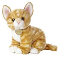 "10"" Orange Tabby Kitten Miyoni Aurora Plush Stuffed Animal Cat"