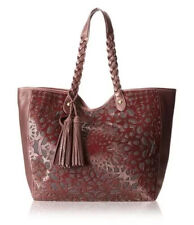 $475 Isabella Fiore Elena Tote With tassel Braised Handles Wine  Burgundy NWT