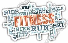 "Fitness Aerobics Bike Ride Cardio Word Cloud Car Bumper Vinyl Sticker Decal 5X4"""