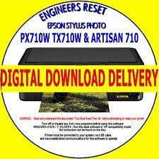 EPSON PX710W TX710W ARTISAN 710 PRINTER WASTE INK COUNTER RESET DIGITAL DOWNLOAD