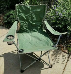 """Sage Green 34.5"""" Chair Folding Comfortable Lightweight Indoor Outdoor Camping"""