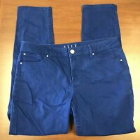 Elle Womens Blue Colored Ankle Skinny Jeans Size 12