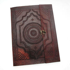 Indra Fair Trade Handmade XL Embossed Leather Photo Album 2nd Quality