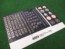 Lgb 5024 Original Road name & Number sticker sheet a4 Iii