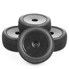 4 Pcs Front&Rear Tyre Rubber Tires Wheels Rims RC 1/10  HSP Buggy Car Off-Road