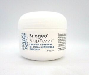 Briogeo Scalp Revival Charcoal + Coconut Oil Micro Exfoliating Shampoo ~ 1 oz