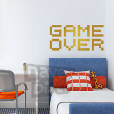 GAME OVER retro video PC gamer arcade boys girls bedroom wall art sticker decal