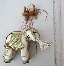 Ye Old Teak Wood Elephant Puppet Marionette