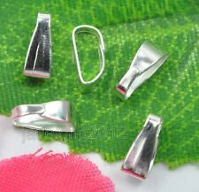 Wholesale 200pcs plated silver Necklace Connector Clip Bail 6mm